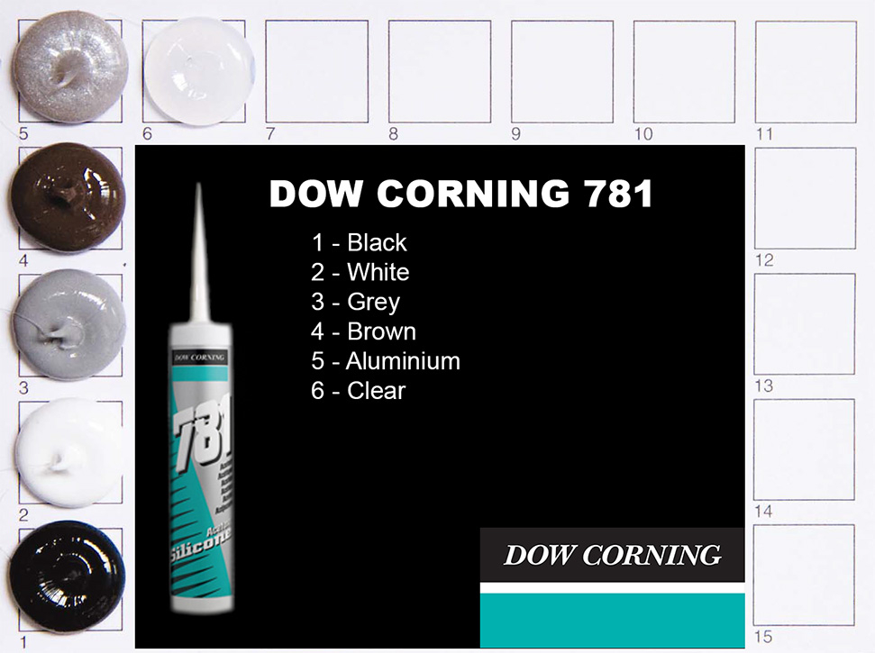 Dow Corning 781 Colours