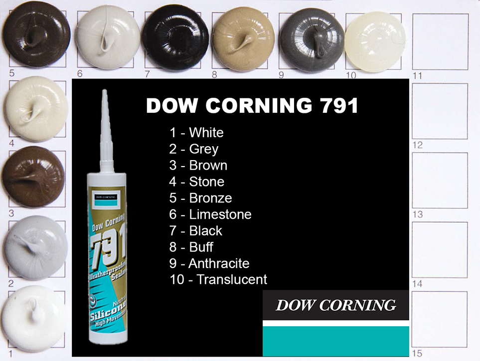 Dow Corning 791 Colours