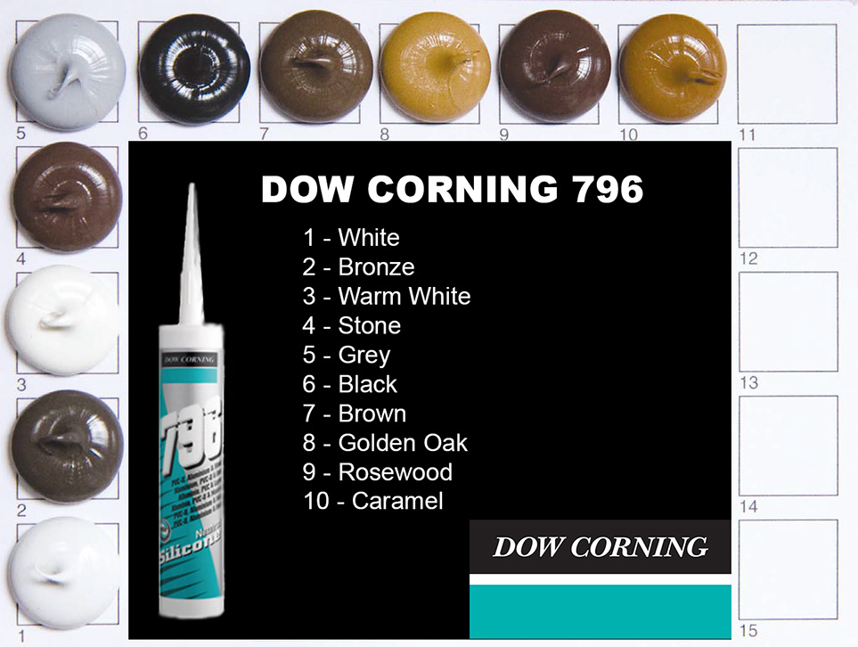 Dow Corning 796 Colours