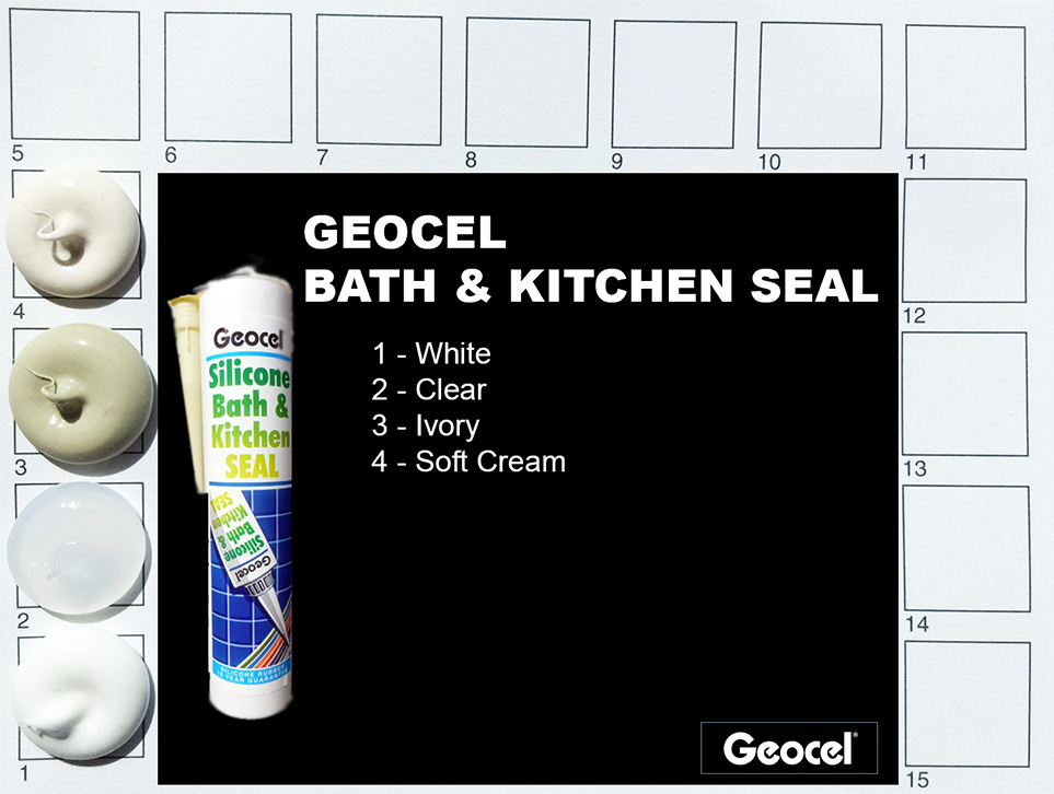 Geocel Bath & Kitchen Seal Colours