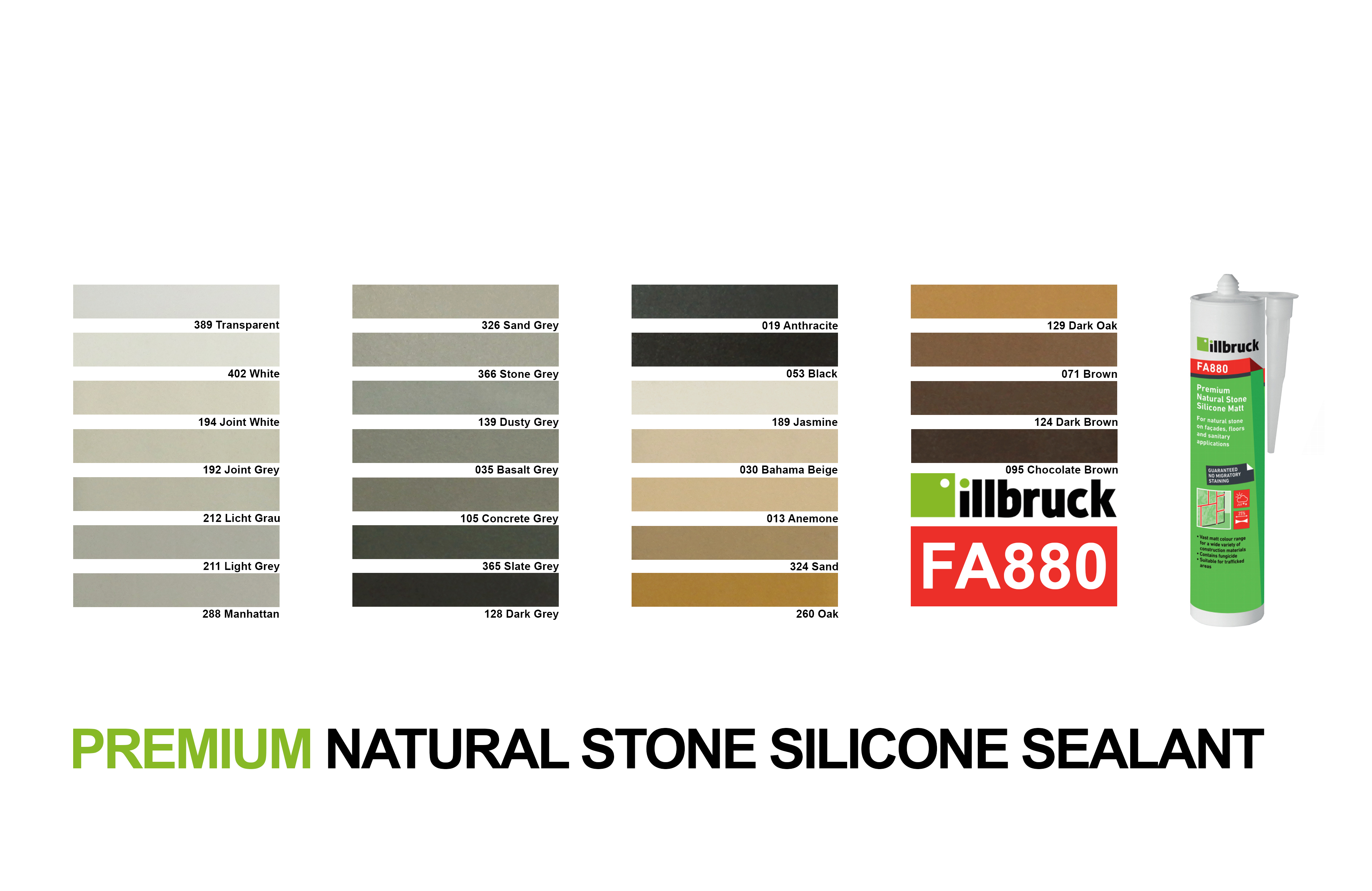 Tremco illbruck FA880 Matt Colours