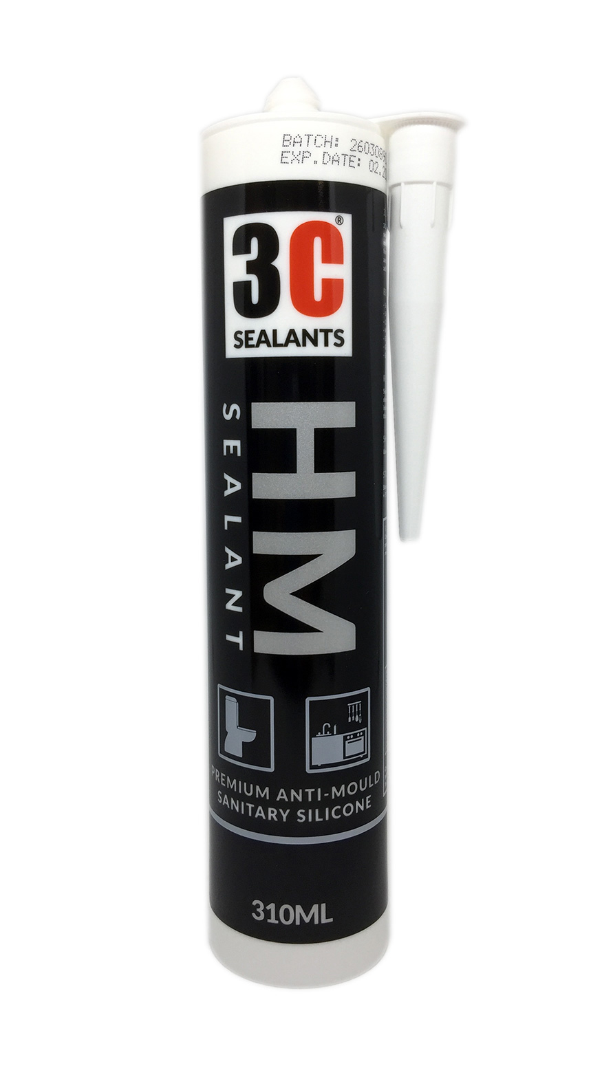 3C Sealants HM Anti-Mould Sanitary Silicone Sealant