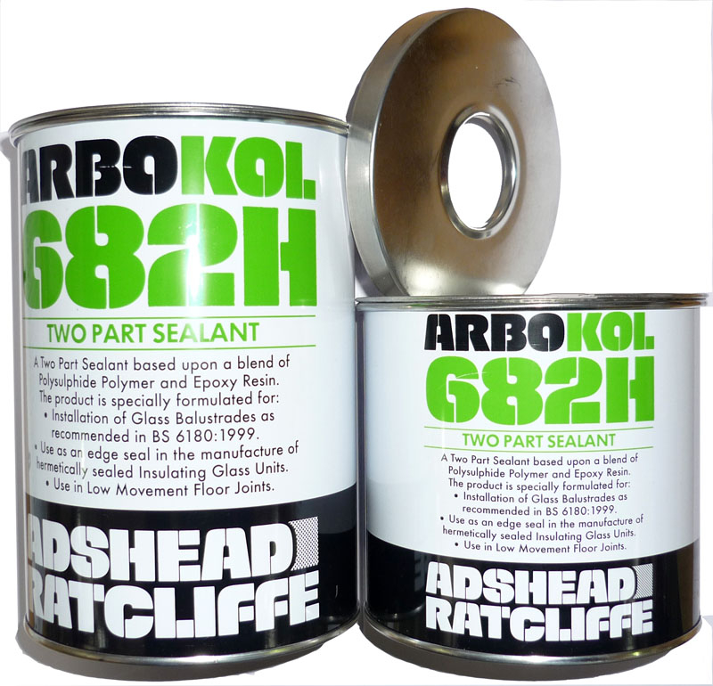 Arbokol 682H Gun Grade Glass Balustrade Sealant 1.2 Litre Grey