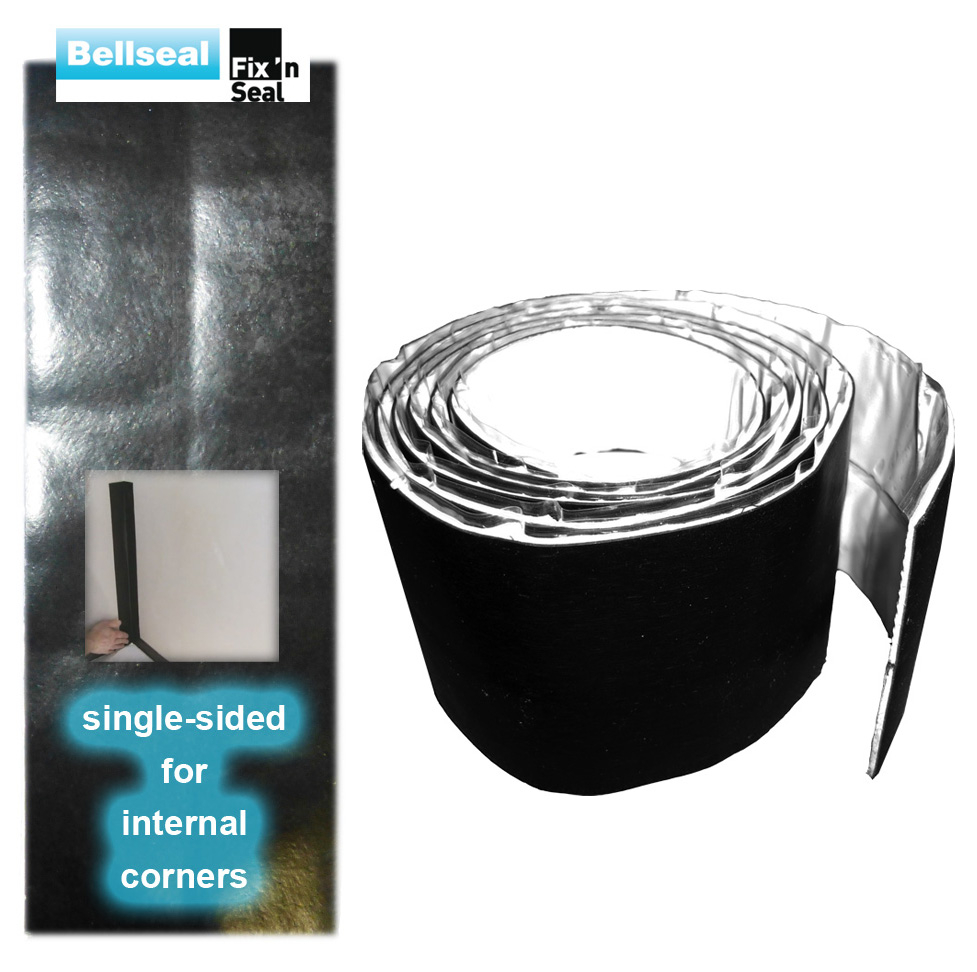 Bellseal Fix N Seal Corner Waterproofing Single Sided 100mm x 2m Black