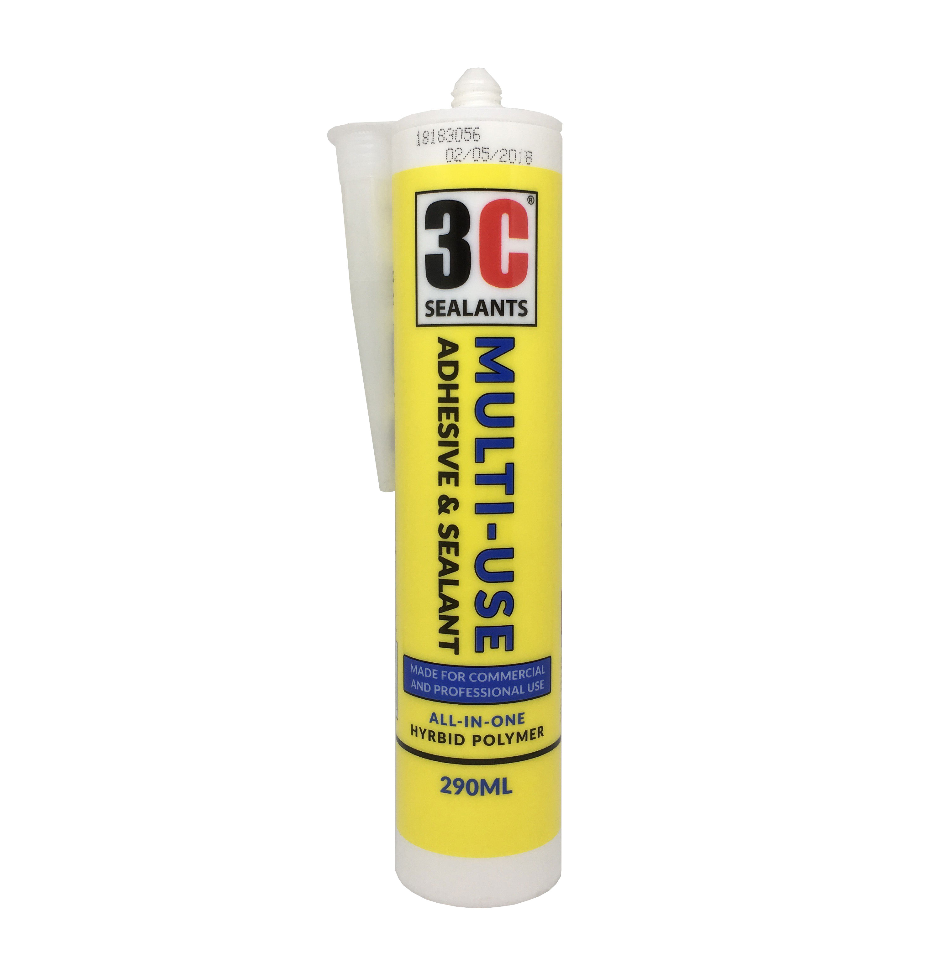 3C Sealants Multi-Use Adhesive & Sealant White 290ML (RAL 9010)
