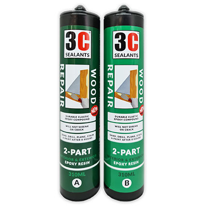 3C Sealants Wood Repair 2-Part Epoxy Resin 620ml