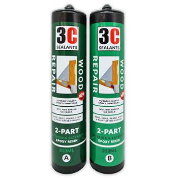 Epoxy Fillers - 3C Sealants Wood Repair 2-Part Epoxy Resin 620ml