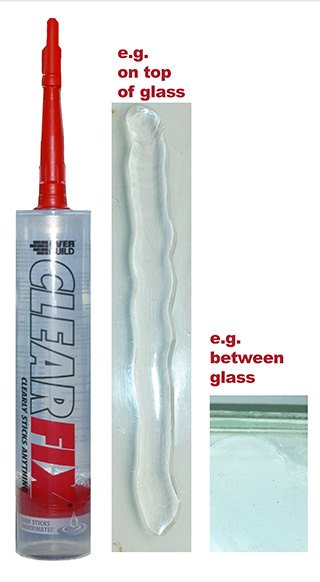 Everbuild Clear Fix Ultra Clear Adhesive Mastic Sealant C3