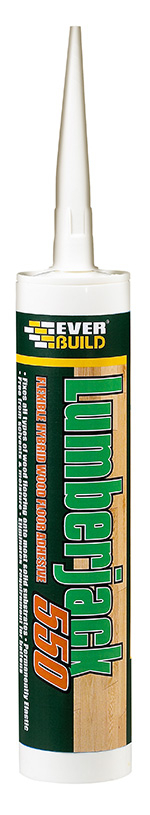 Everbuild Lumberjack 550 Floor Adhesive 300ml Buff