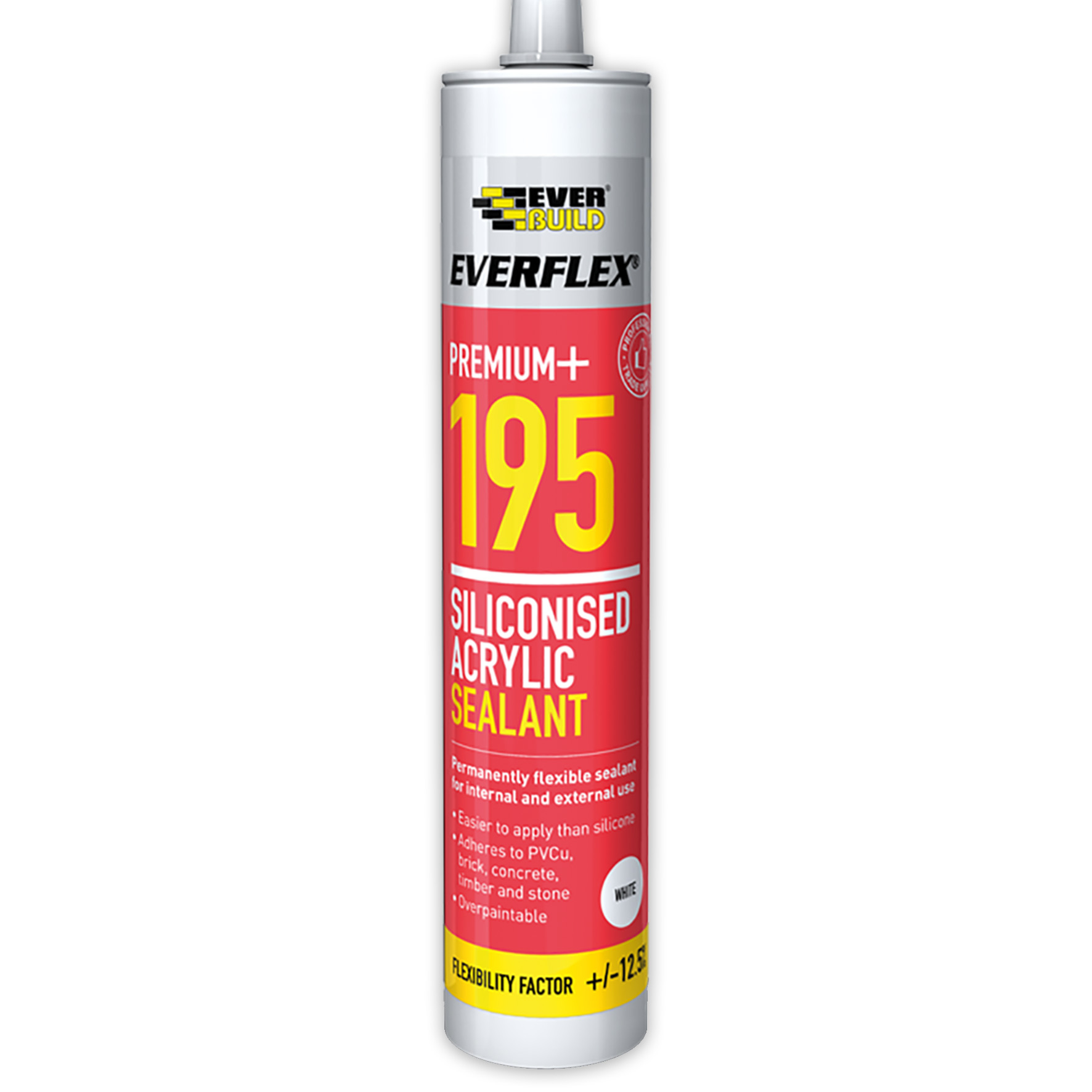 Everbuild Everflex 195 Siliconised Acrylic Sealant 300ml White