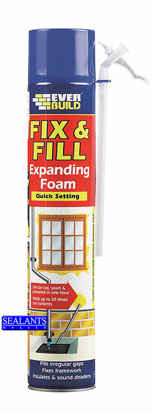 Everbuild Fix & Fill Foam Nozzle Type (Exact Gap Foam) 750ml