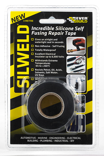 Everbuild Silweld Self Welding Silicone Tape 3m Black