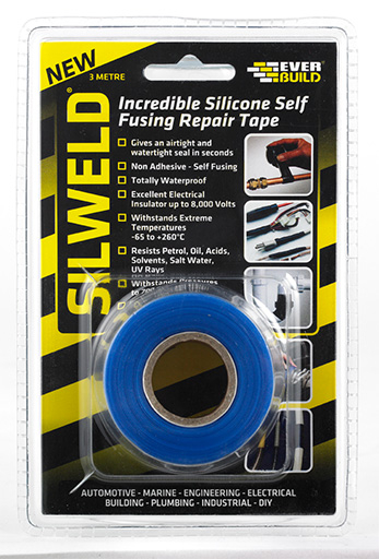 Everbuild Silweld Self Welding Silicone Tape 3m Blue