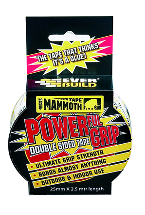Everbuild Mammoth Powerful Grip Tape 12mm x 2.5m
