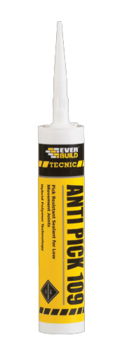 Everbuild Anti-Pick 109 Mastic Joint Sealant C3 310ml White