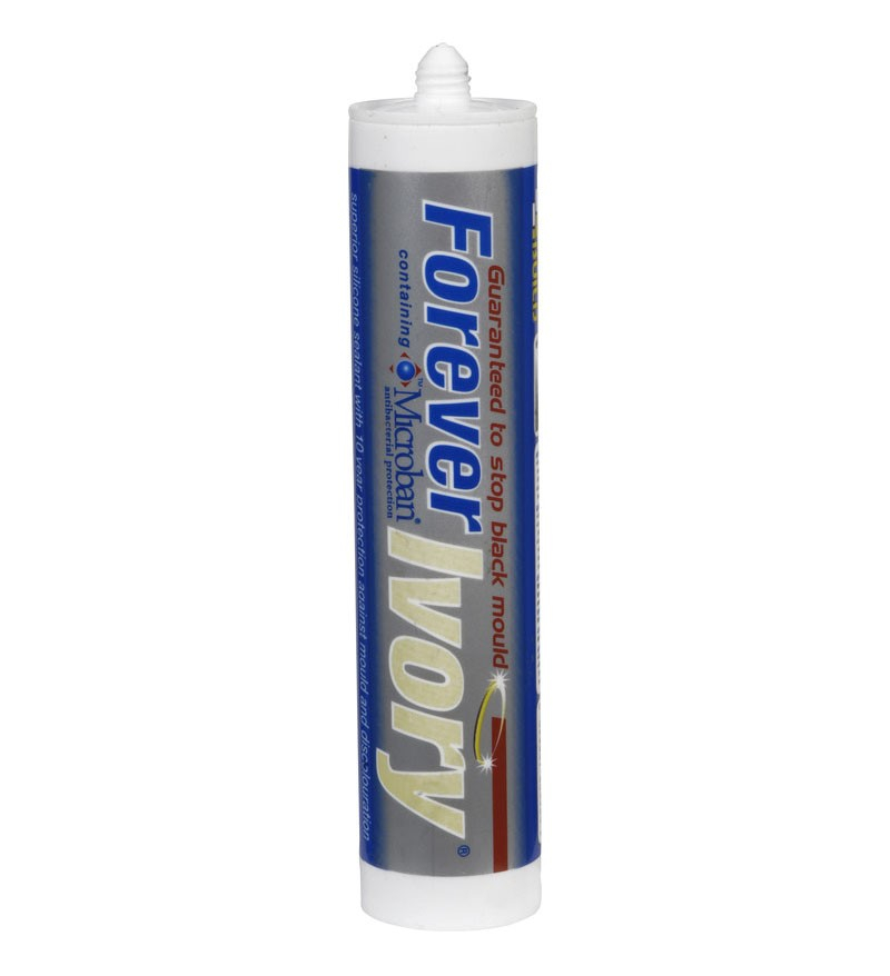 Everbuild Forever Ivory Silicone Sealant 295ml