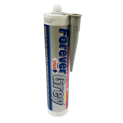 Everbuild Forever Grey Silicone Sealant 295ml