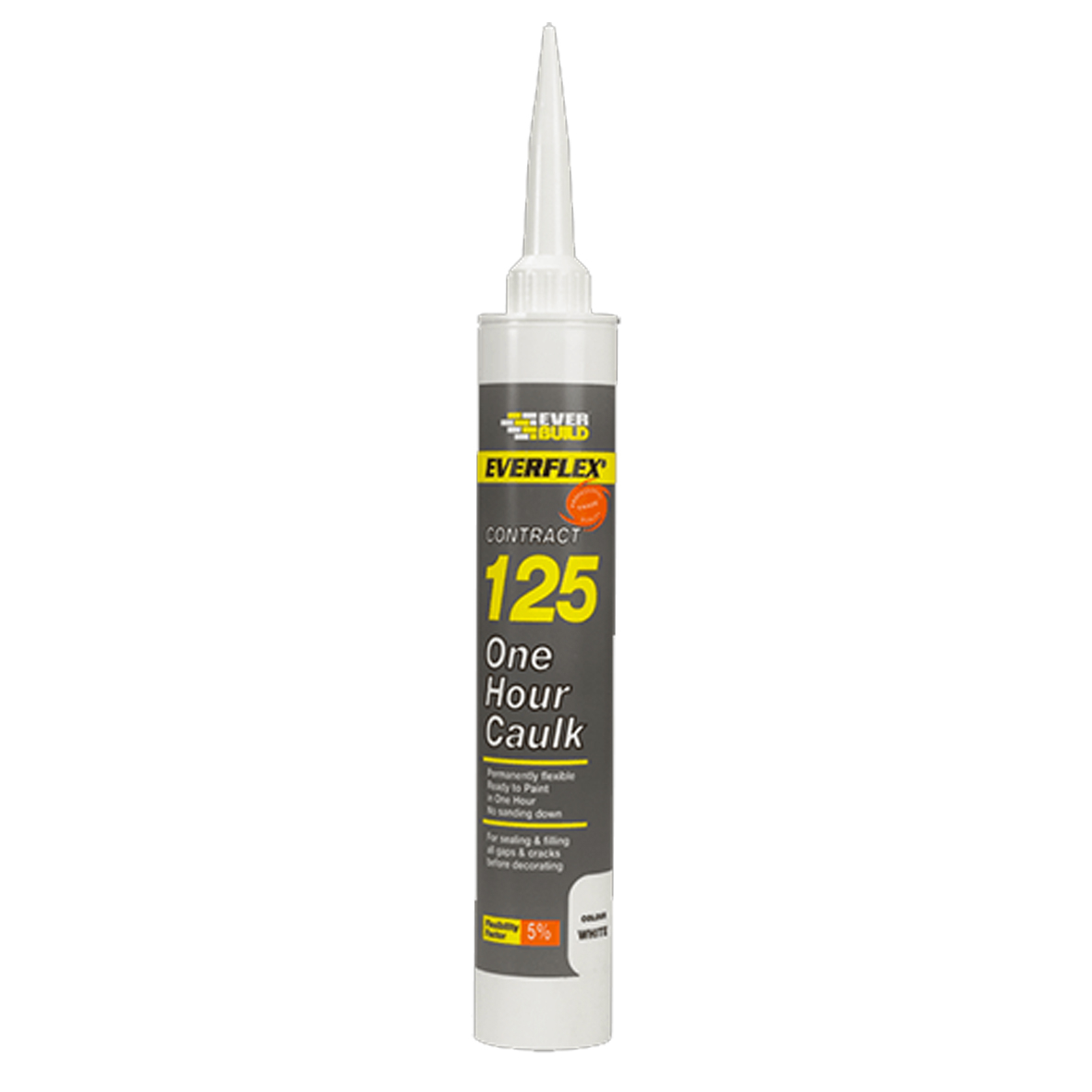 Everbuild 125 One Hour White Caulk Filler Sealant C4 380ml