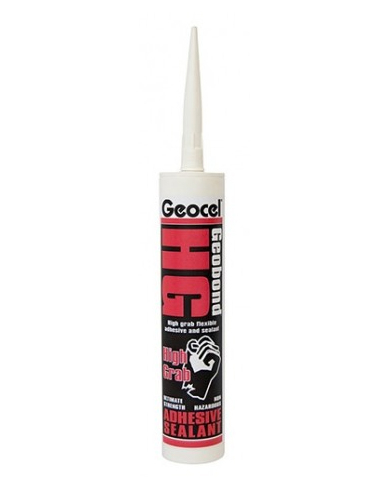 Geocel Geobond HG High Grab Flexible Sealant Adhesive 290ML White