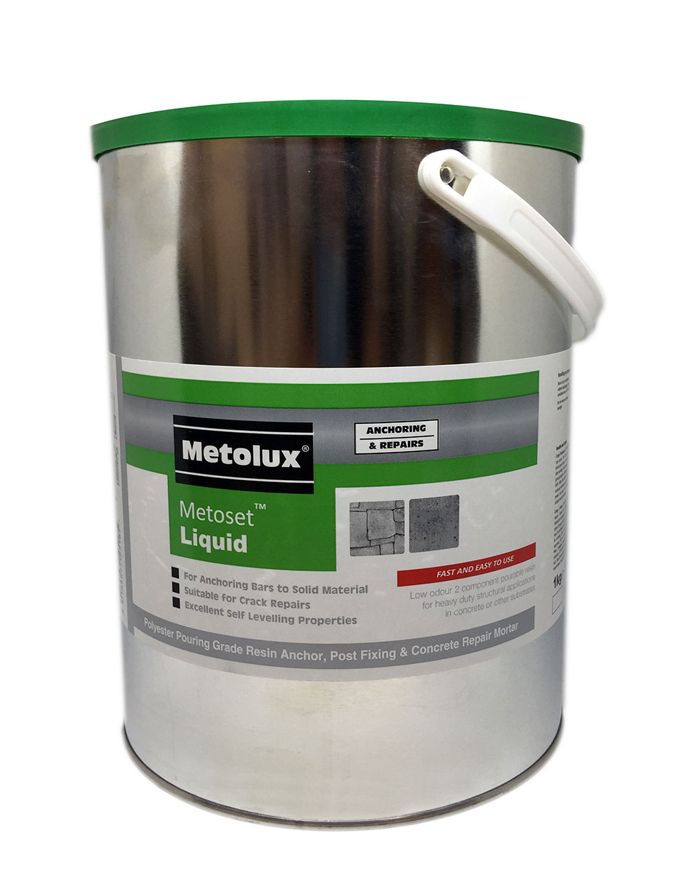 Metolux Metoset P-SF Styrene Free Multi Purpose Repair Resin 5kg