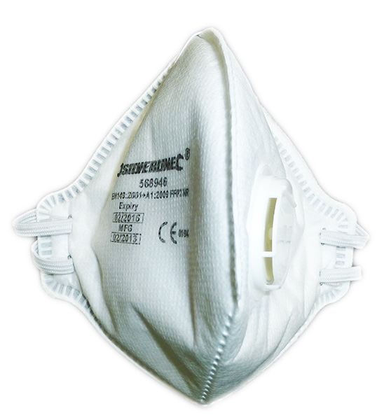 Silverline Disposable Respirator Fold Flat Valved Mask