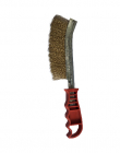 Silverline Red Handled Brass Wired Brush