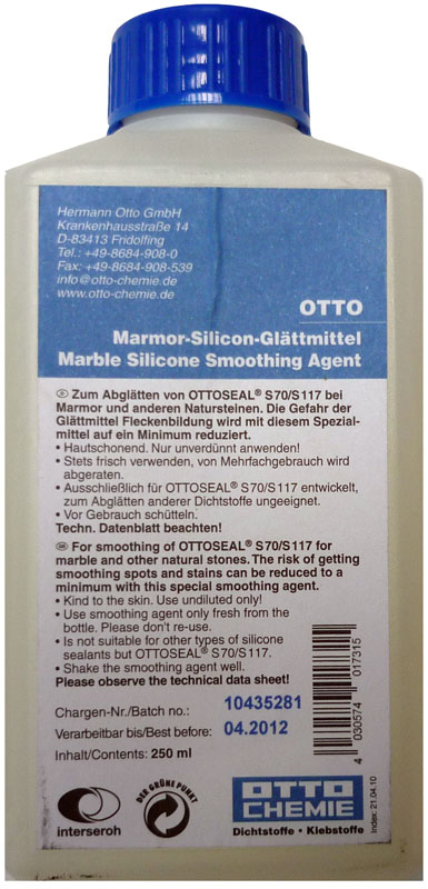 Otto Chemie Silicone Smoothing Tooling Agent 250ml (Marble)