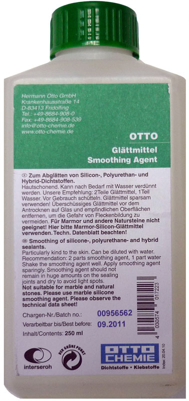 Otto Chemie Silicone Smoothing Tooling Agent 250ml