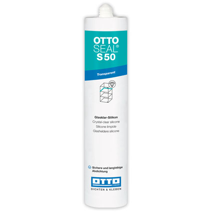 OTTOSEAL S50 Silicone Sealant Crystal Clear C30