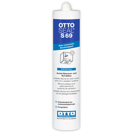 Otto-Chemie OTTOSEAL® S69 Clean Room Acetate Sealant RAL 9010