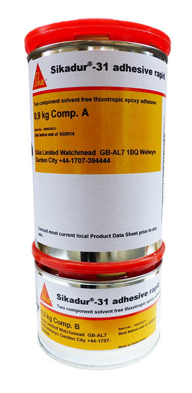 Sika Sikadur 31GB Rapid Epoxy Adhesive 1.2kg Grey