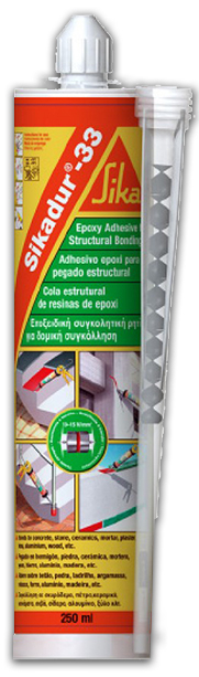 Sika Sikadur 33 Secure, Non-Pick 2-Part Structural Epoxy Adhesive 250ml Grey