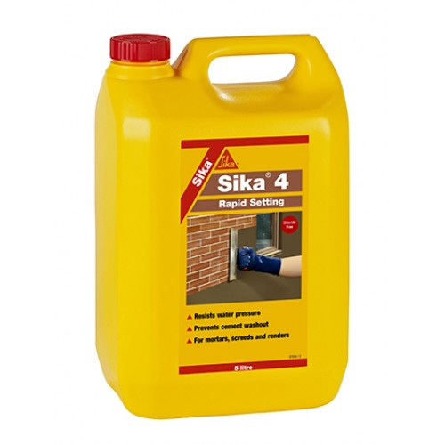 Sika® 4 Rapid Setting Waterproofing Liquid 5 Litre