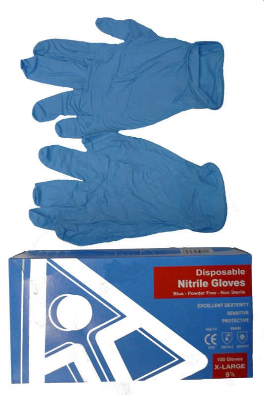 Nitrile Disposable Gloves Blue (50 pairs per box)